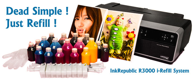 InkRepublic Epson R3000 CIS Continuous Ink System Bulk Ink System
